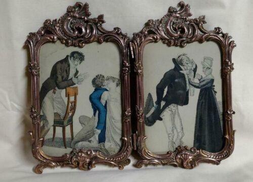 ANTIQUE ART NOUVEAU  BRONZE PICTURE FRAME ROYAL M MFG CO