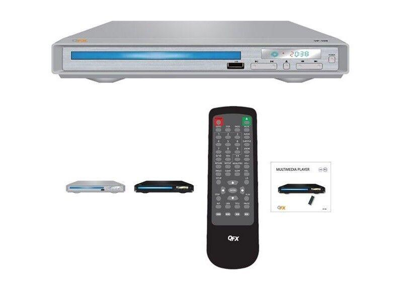 QFX VP-109 Home DVD/CD/MP3/USB Player +All Region-Free Multi