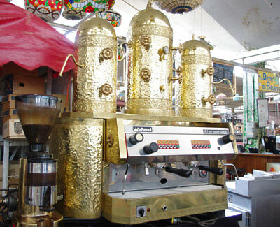 La Pavoni Copper And Brass Old Italy With Grinder