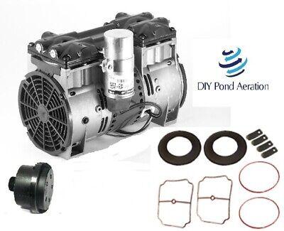 Thomas Vacuum Veneer Pump Vacuum Compressor 3cfm 27hg Aerator W Rebuild Kit