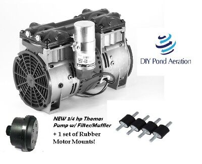 New 34hp Lake Fish Pond Aerator Pump Aeration Compressor Motor Wfilter-mounts