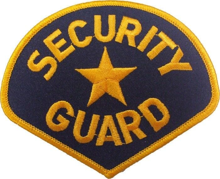 """Security Guard Star Embroidered Shoulder Patch 3.75"""" x 4.25"""""""