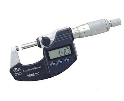 Mitutoyo 293-240-30 Digital Metric Micrometer 0-25mm 0.001mm