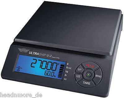 Package Scale Myweigh Ultraship U2 - 59.5lbs X 0.0705oz Shipping Parcel