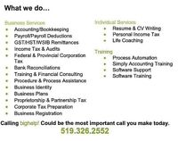 Bookkeeping for your small to medium business in Essex County