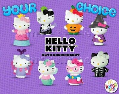 Sanrio Halloween Costumes (McDonald's 2019 HELLO KITTY Sanrio Halloween Cat Costume Figure YOUR Toy)