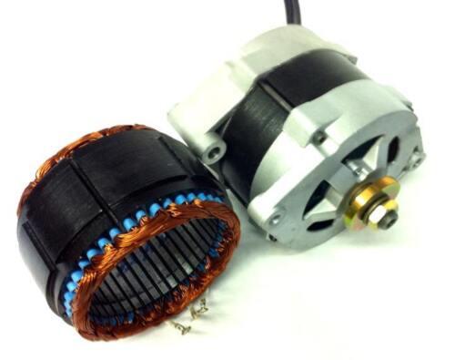 3000 Watt Dual Wide Core PMA PMG 48VAC Permanent Alternator Wind Generator n50