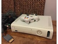 Xbox 360 (HDMI port Version) with Component cable and power supply.