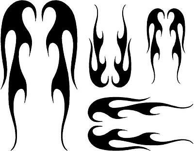 BIKE FRAME DECALS STICKERS FLAME FOR ROAD OR MOUNTAIN Bike #21