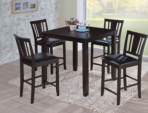 Solid hardwood bistro table 36 x 36, with 4 chairs, NEW IN BOXES