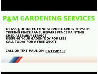 p&m gardening services