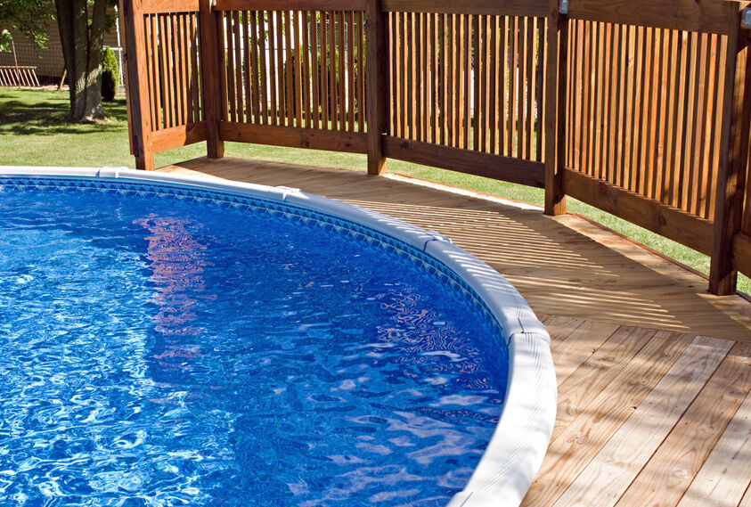 How to build a deck around a round pool ebay Above ground pool privacy