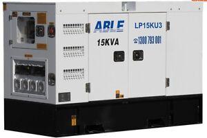 Generator, diesel  - 15 KVA diesel Generator on trailer for hire Murwillumbah Tweed Heads Area Preview