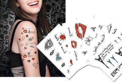 Romantic Temporary Tattoos, Paris, Lip prints, Diamond Tattoos, Valentine Tattoo - Valentine Tattoo