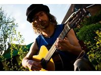 beginners and intermediate acoustic guitar. also use of loop pedal. jazz, blues, reggae, pop, rock
