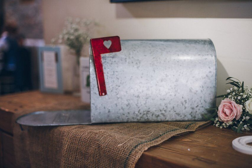American vintage style mailbox, perfect for wedding cards