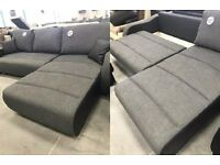GREY modern sofa bed, corner, chaise. Fabric - great condition - delivery available!