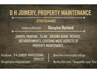Joiner / Property maintenance, all aspects of repairs maintanance and refurbishment