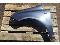 Vauxhall Corsa D 2009 passanger side wing Blue/grey