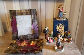 Joblot 4 Zingle Berry Figures, Vincenza Frame and Dish
