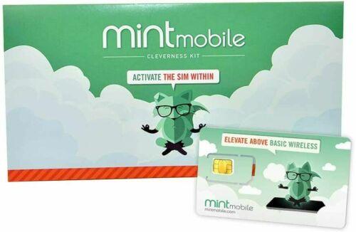 Mint Mobile 3-Month 4GB/a month 4G LTE 5G Prepaid SIM Card Kit Phone Service
