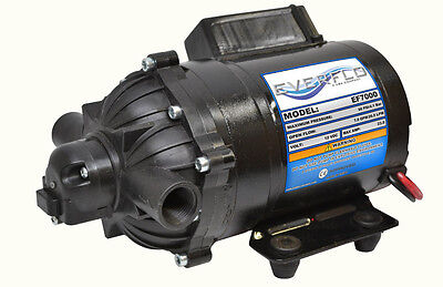 EVERFLO 12 Volt 7.0 GPM Diaphragm Water Pump 60 psi Lawn Sprayers, Boats, RV's