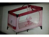 Play pen/ Travel Cot - Minnie Mouse Pink