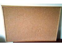 Pin board /Cork board / Noticeboard - Pine Frame W90cmxH60cm