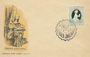 Poland FDC (Mi. 1013) Stamp day 1957 #1 - <span itemprop='availableAtOrFrom'>Bystra Slaska, Polska</span> - Poland FDC (Mi. 1013) Stamp day 1957 #1 - Bystra Slaska, Polska