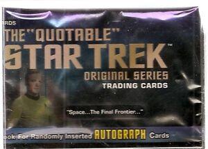 2004 Rittenhouse  Star Trek Quotable TOS Set (110 cards) & Case
