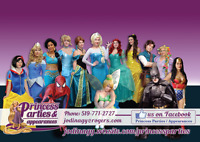 Princess Parties Appearances / Superheros Friends Birthday party