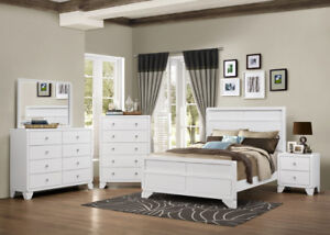 LATEST WHITE BEDROOM SET - FACTORY OUTLET