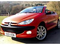 Peugeot 206 CC 16V SE**Coupe Cabriolet**Amazing,Genuine 18,000 Miles Only !**