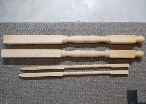 2 Oak Railing Newell Posts and 20 Ballusters - New - Unfinished