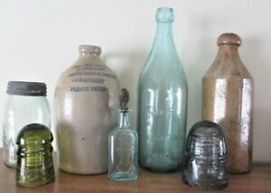 Glass and porcelain telegraph and hydro insulators