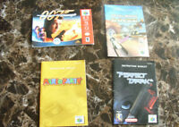 4 N64 GAME MANUALS ONLY