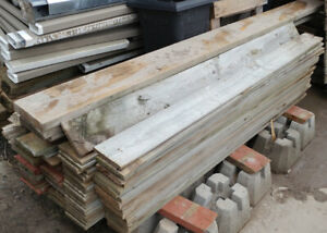 Over 200 Used 1x6 x 6 foot Treated Wood Fence Boards