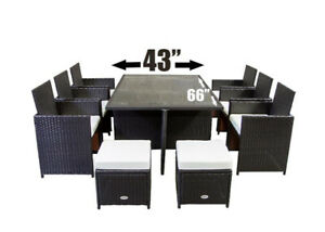 Outdoor Patio Furniture Dining Dinner Set (seats 10)