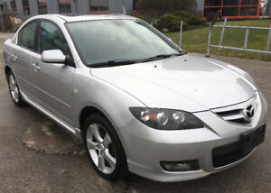 2007 MAZDA MAZDA3 2.3 GT SEDAN*CERTIFIED*3Yrs WARRANTY!!