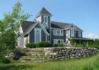 St. Martins One of A Kind Home, 11 Ac., overlooking Bay of Fundy