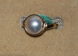 10kt Gold Lady's Cultured Pearl Ring - New, never worn