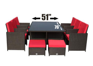 Outdoor Patio Dining Set- 11 pcs (brand new)