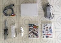 White Wii _ With All Cords / Controller / Nunchuk & Games
