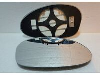 Driver Side clip on heated wing door mirror glass for BMW Series 1 2004-2009