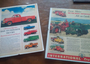 Two Old Ads: 1949 Studebaker Trucks/International Trucks