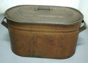 Antique copper Boiler Wash Tub Kettle
