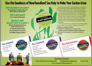 Kelp based Plant Booster liquid concentrate soil conditioners