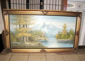 Large Elongated Oil Picture
