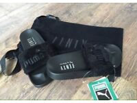 PUMA X RIHANNA FENTY LEADCAT SLIDES SLIPPERS BLACK BRAND NEW BOXED
