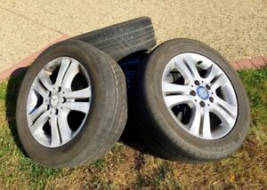 4 Mercedes Rims and Michelin all season  MXV4 tires